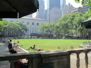 next to the NYC Public Library