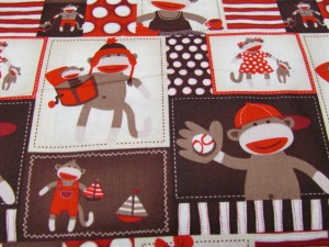 Sock monkey fabric