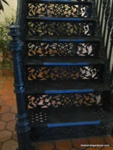 the elms-cast iron stair case