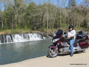 motorcycle, natural dam