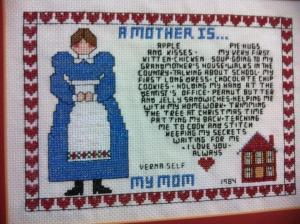 mother cross stitch sampler