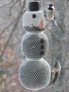 birds, snowman bird feeder