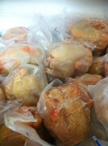 chicken in the freezer