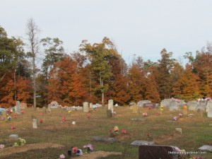 mossville cemetary in fall