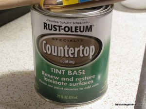 Countertop paint used to cover old formica--very easy!! '70's lake house remodel  https://theblondegardener.com/2015/03/08/70s-lake-house-remodel/