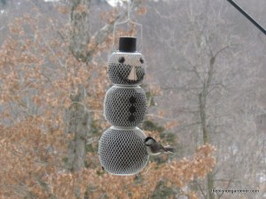 Snowman Bird Feeder