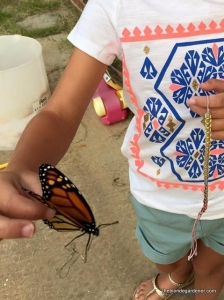 hallie and butterfly